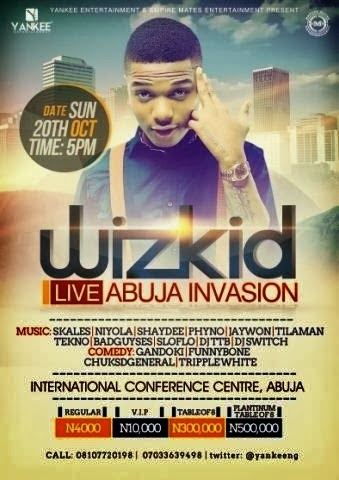 wizkid performs for empty seats