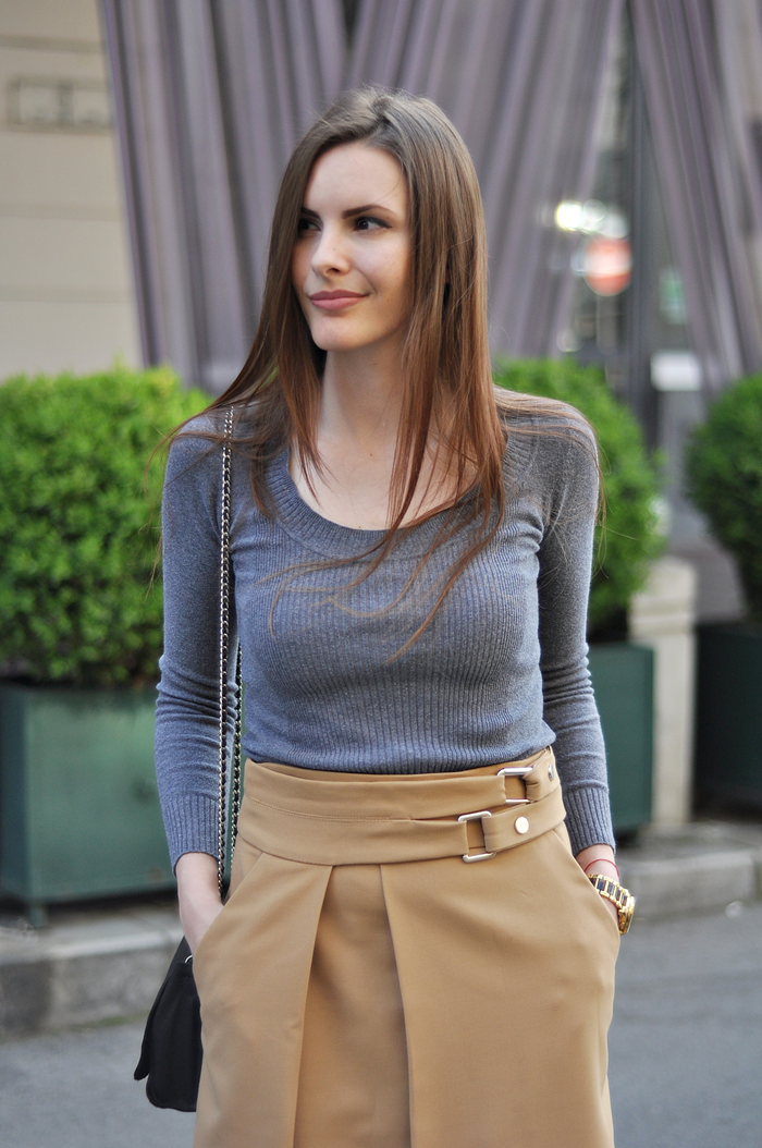 aleksandra skorupan, velvet and milk blog, zara high slit skirt