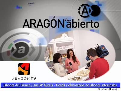 Televisión de Aragón con Jabones del Pirineo