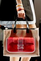 Голяма Чанта с прозрачен джоб и портмоне, дизайн Fendi