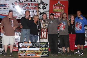 Bobby wins Fairbury ALMS feature 5-10-2014