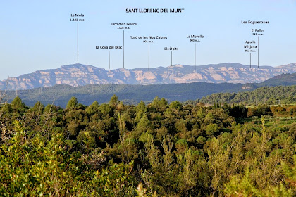 Fotografia de la Serralada de Sant Llorenç del Munt