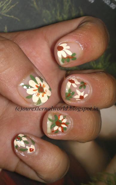 acrylic nail art - hot paint