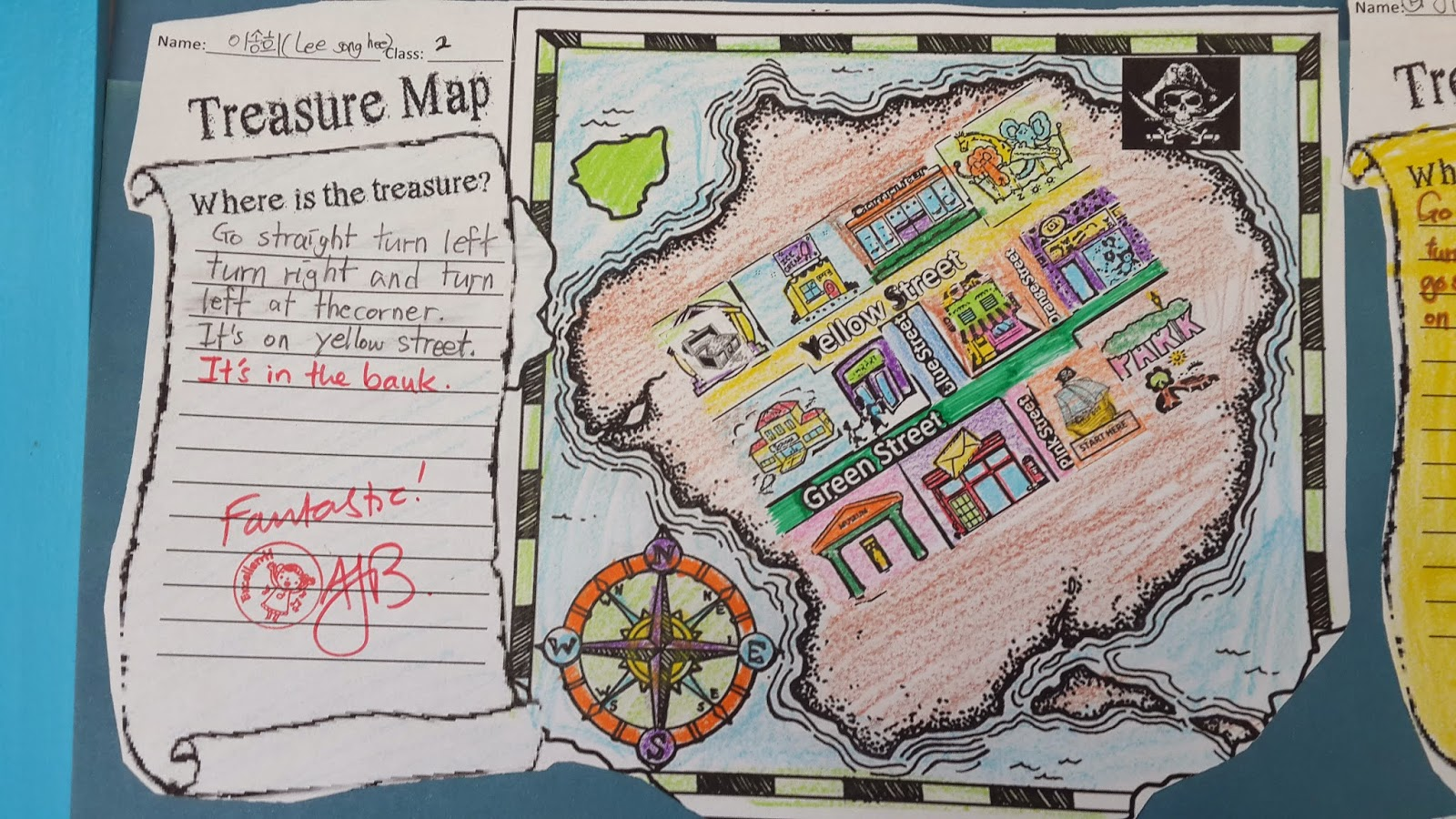 making treasure maps directions lesson project