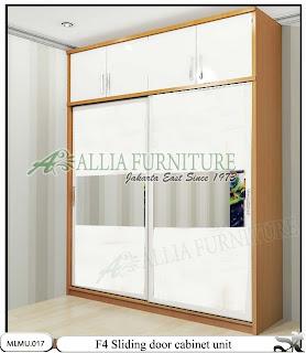 Lemari pakaian minimalis sliding unit cabinet F4