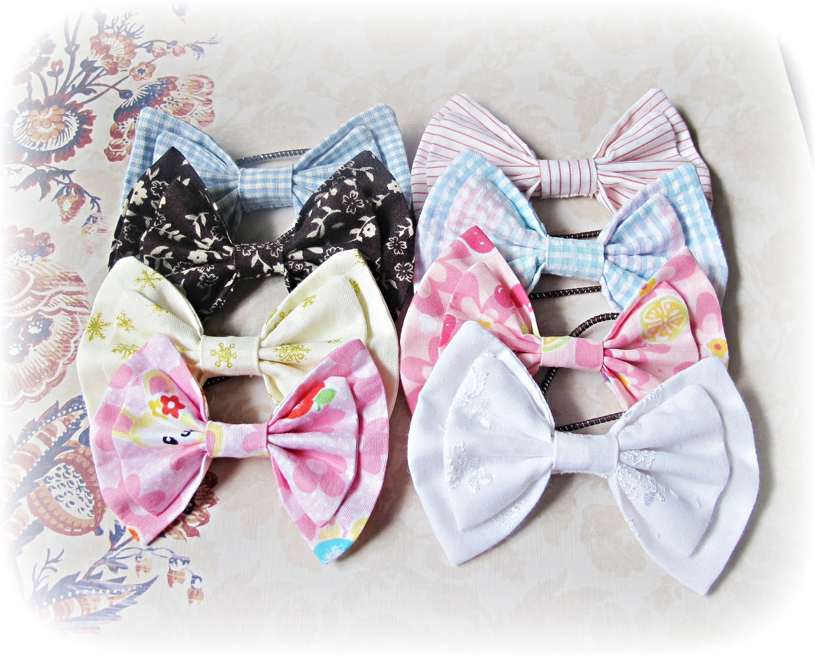 image how to sew a fabric double bow