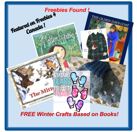 image Canadian Freebies - Free Crafts Based on Winter Books three winter books and crafts