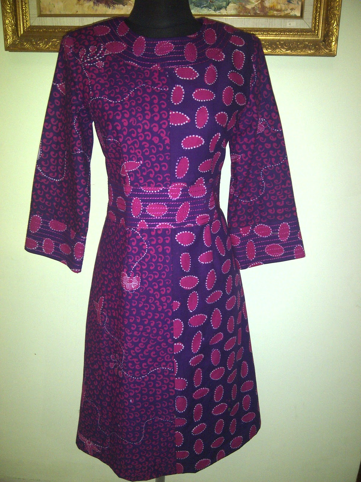 Hn Collection Dress Batik Madura Pagi Sore Model Baju