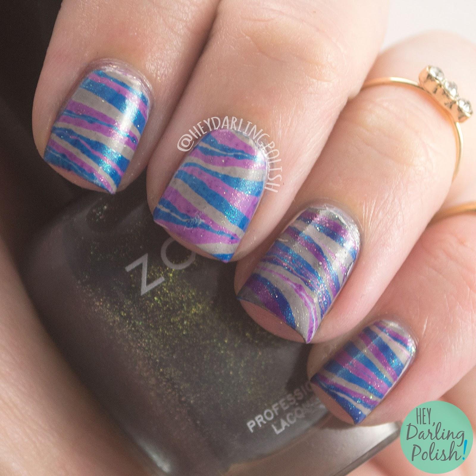 nails, nail polish, hey darling polish, fall favorites, hobby polish bloggers, watermarble, zoya, ignite, yuna, remy, sansa, nail art