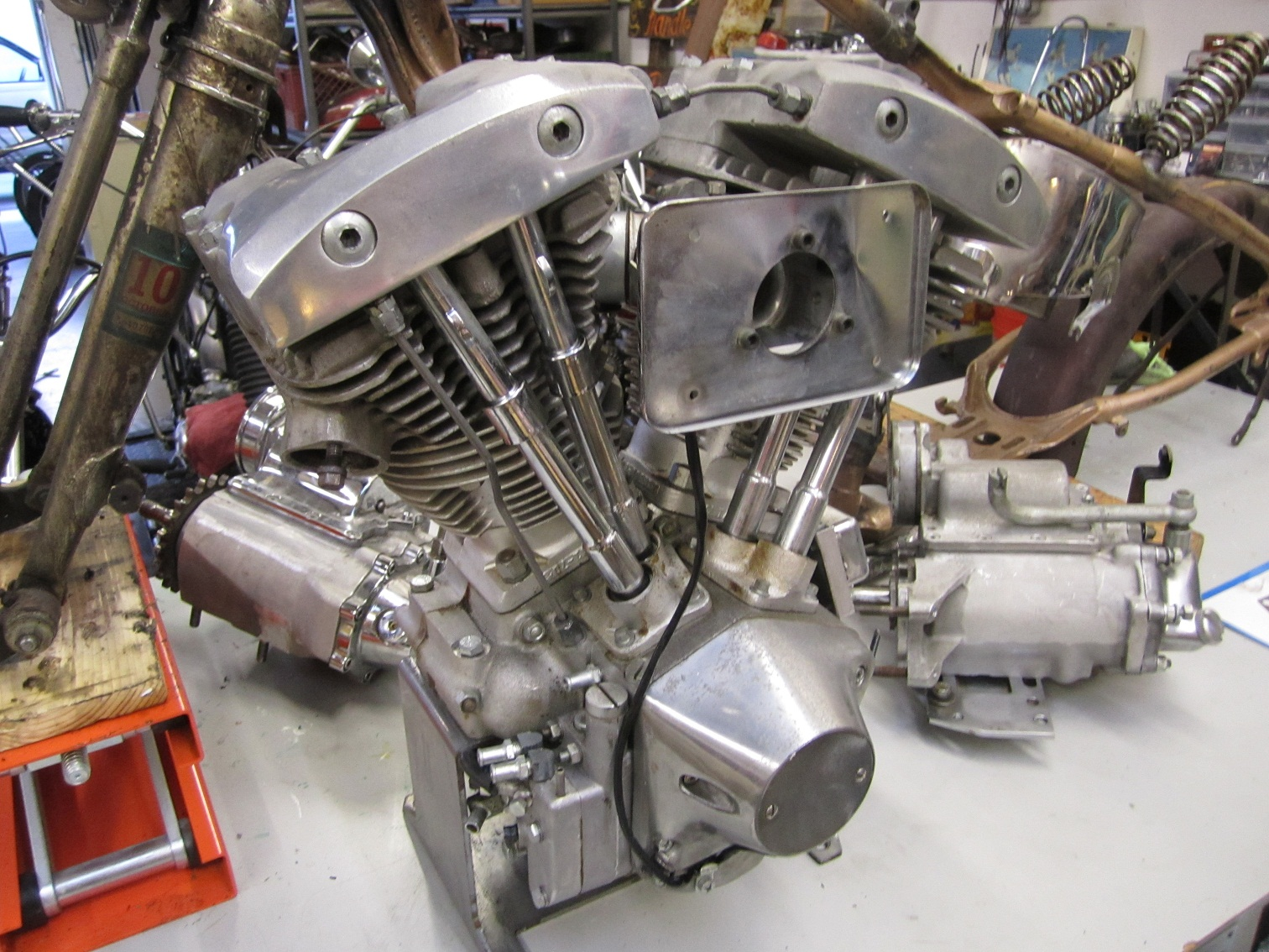 Shovel Motor Parts : Shovelhead motor trans for sale