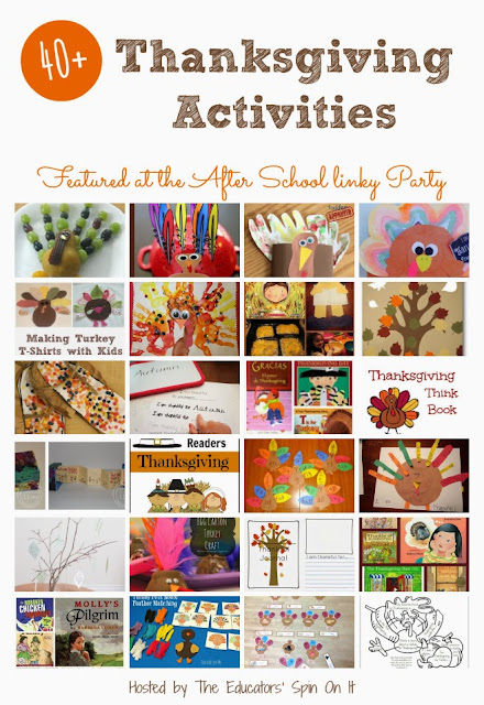 Thanksgiving Activities for School Ages from The Educators' Spin On It