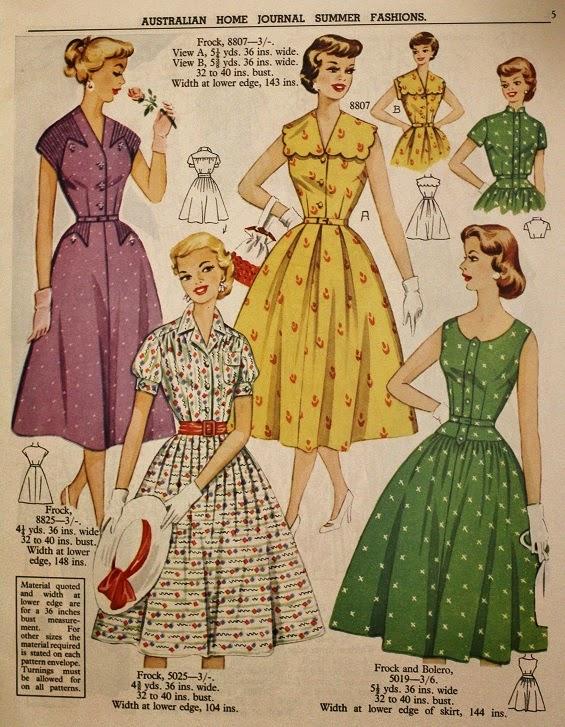 Australian Home Journal Vintage Sewing Pattern Catalogue 1957 www.loweryourpresserfoot.blogspot.com
