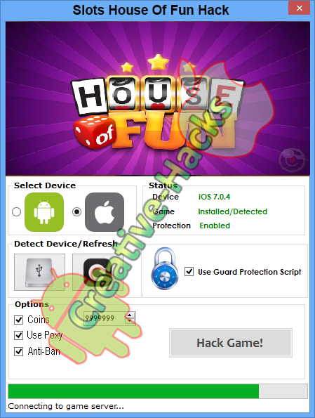 house of fun slot hack