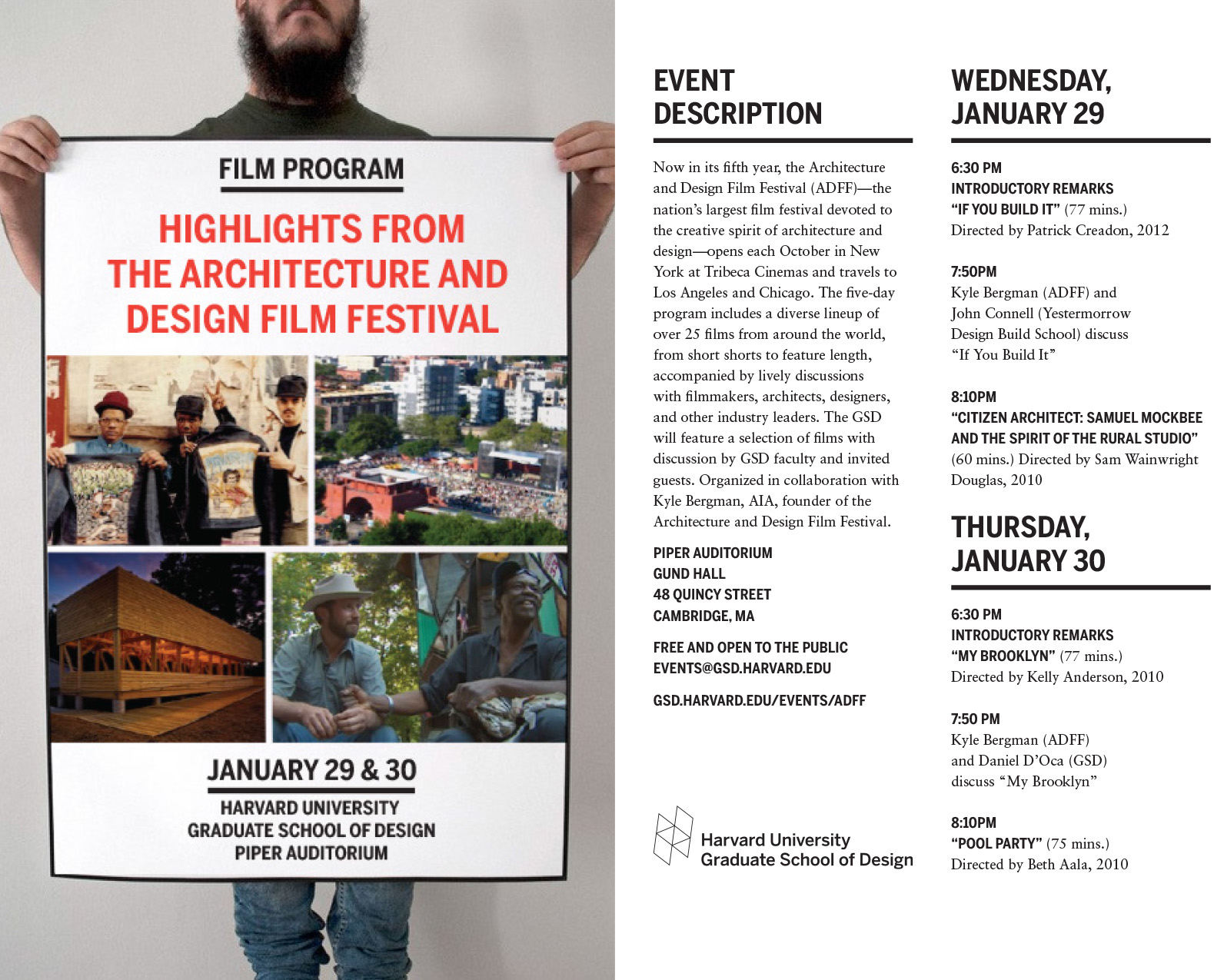 Architecture And Design Film Festival: The Architecture And Design Film Festival