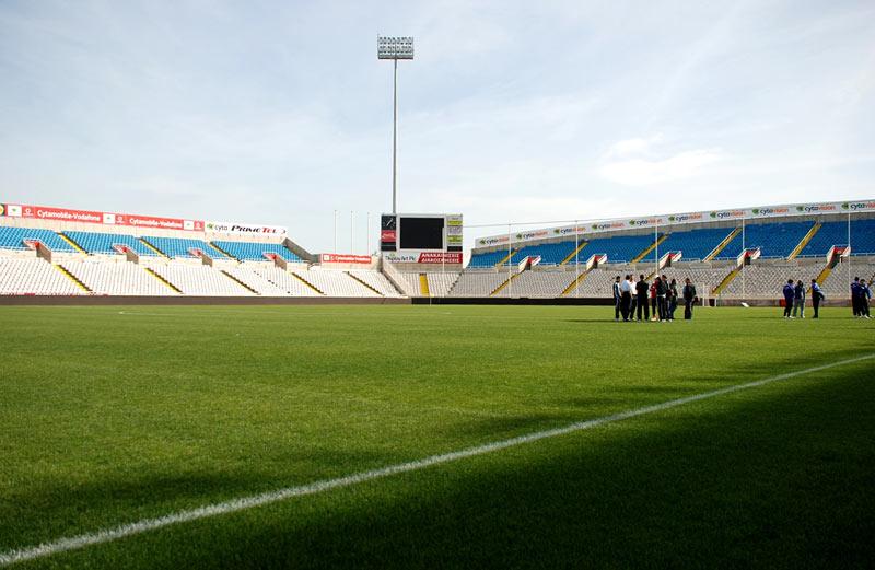 Jeden ze stadionów na Cyprze - fot. Tomasz Janus / sportnaukowo.pl