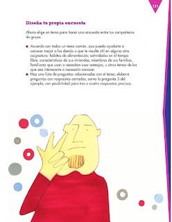 Apoyo Primaria Español 3er grado Bloque 4 lección 3 Práctica del lenguaje 12, Difundir los resultados de una encuesta