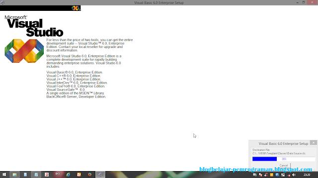 Panduan Install Visual Basic 6.0 di Windows 8/8.1
