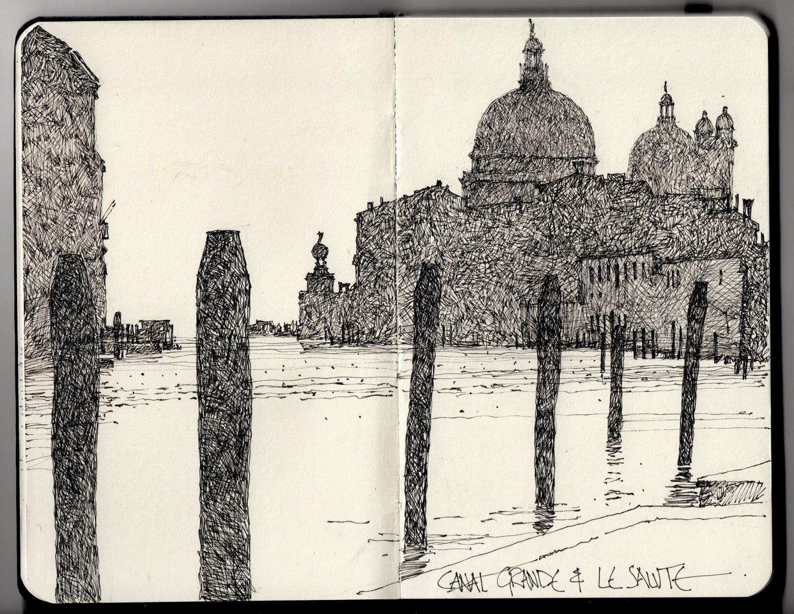 Line Drawing Venice : Ian sidaway fine line venice
