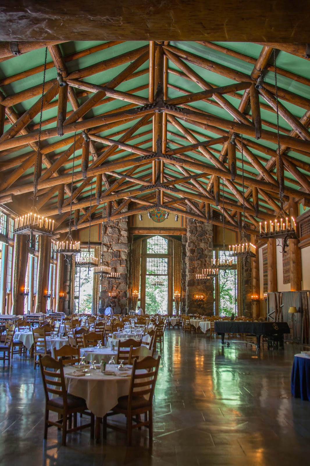 ahwahnee hotel dining room. The Dining Room Was Exquisite. It A Beautiful Sight All Lit Up For Dinner, Every Table Had Single Long Candle As Center Piece. Ahwahnee Hotel