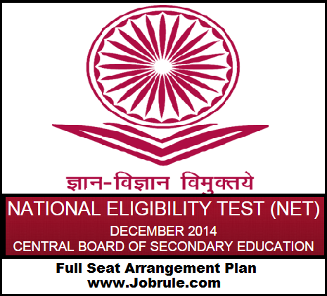 CBSE UGC NET 28th December 2014 PUCHD (Centre Code-48) Roll/Subject Code Wise Seating Arrangement Plan