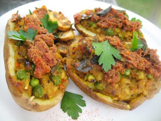 Samosa-Style Stuffed Baked Potatoes