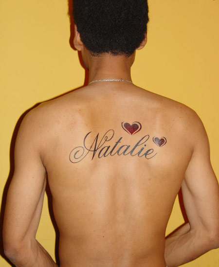 back Tattoos of names