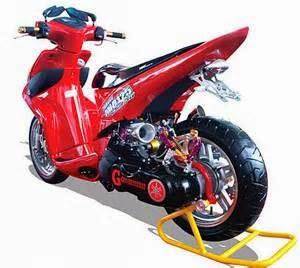 5 Foto Variasi Modifikasi Motor Yamaha Mio Paling Unik
