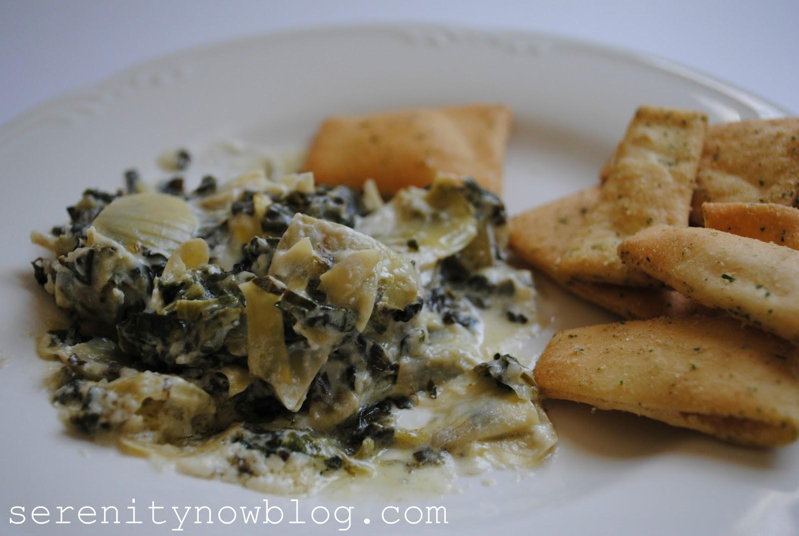Serenity Now: Easy Spinach Artichoke Dip
