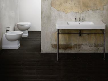 Arrezzi Basin on Chrome Stand, Back to Wall Toilet and Bidet