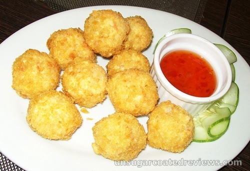 shrimp balls of fire at The Prawn Farm Grill and Seafoods