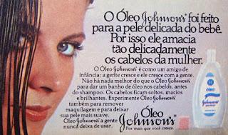 propaganda óleo Johnsons - década de 70; 1970; história da década de 70; propaganda nos anos 70; reclame anos 70; Brazil in the 70s; Oswaldo Hernandez;
