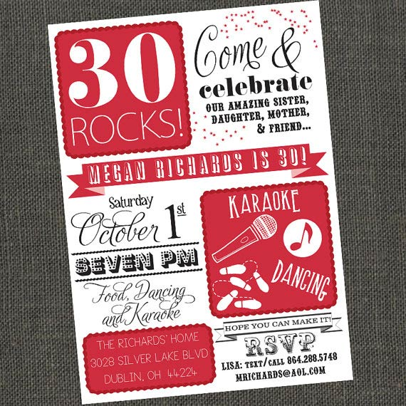 Adult birthday invitations 35 pretty examples jayce o yesta 304050 rocks birthday party invitation via michelepurnerdesigns stopboris