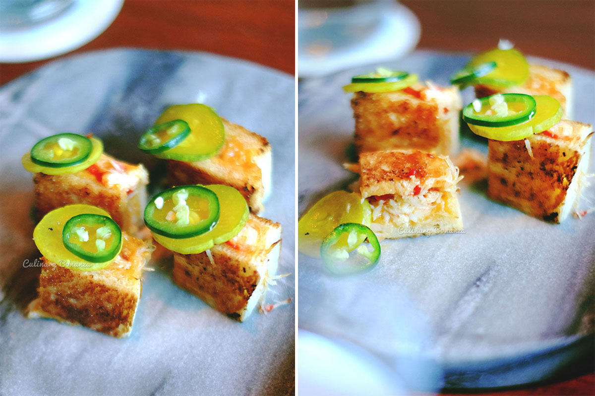 King Crab Melt with b&b pickles (www.culinarybonanza.com)