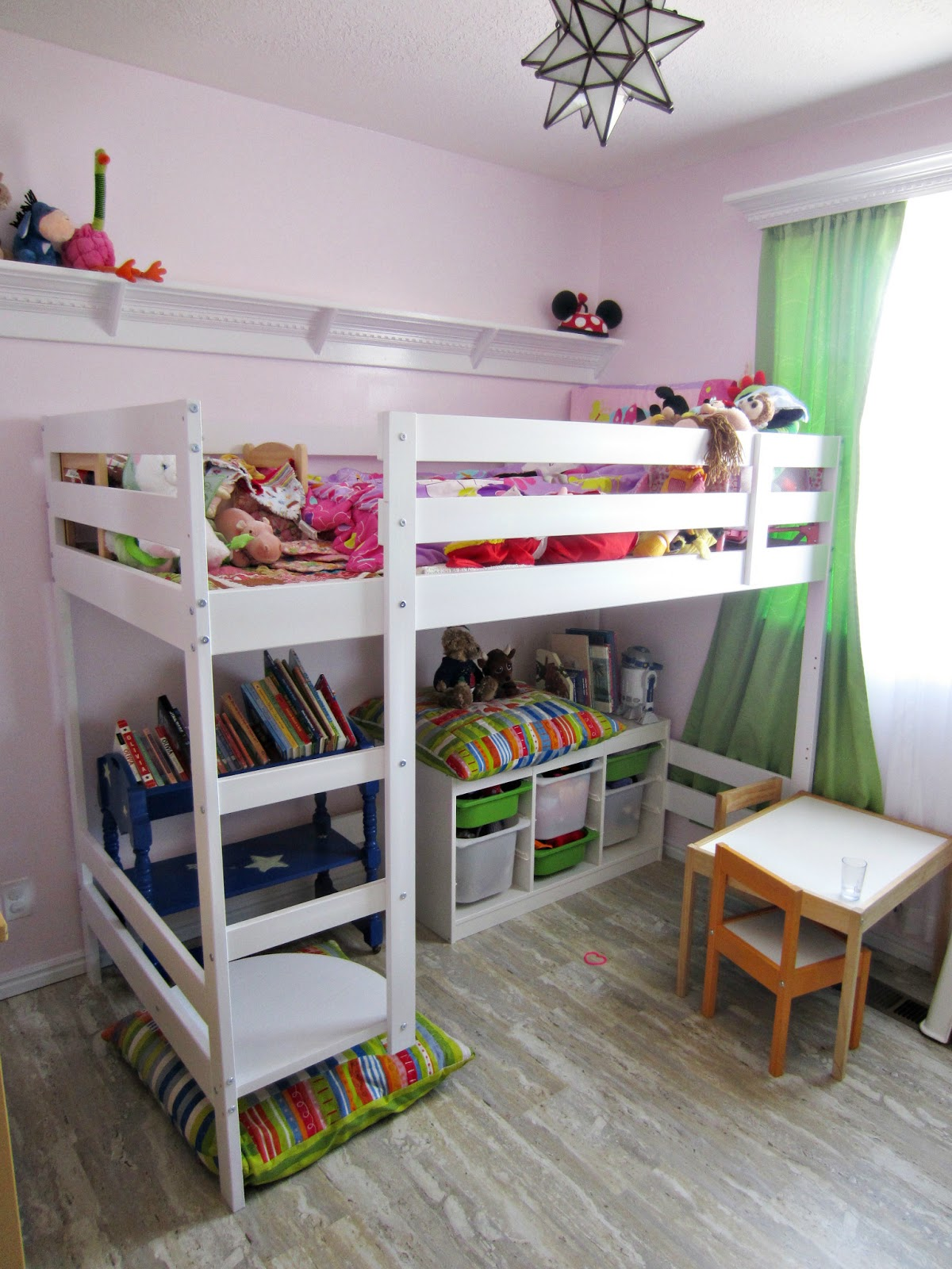A mind for happiness one day i decided to paint the bean 39 s room - Ikea bunk bed room ideas ...