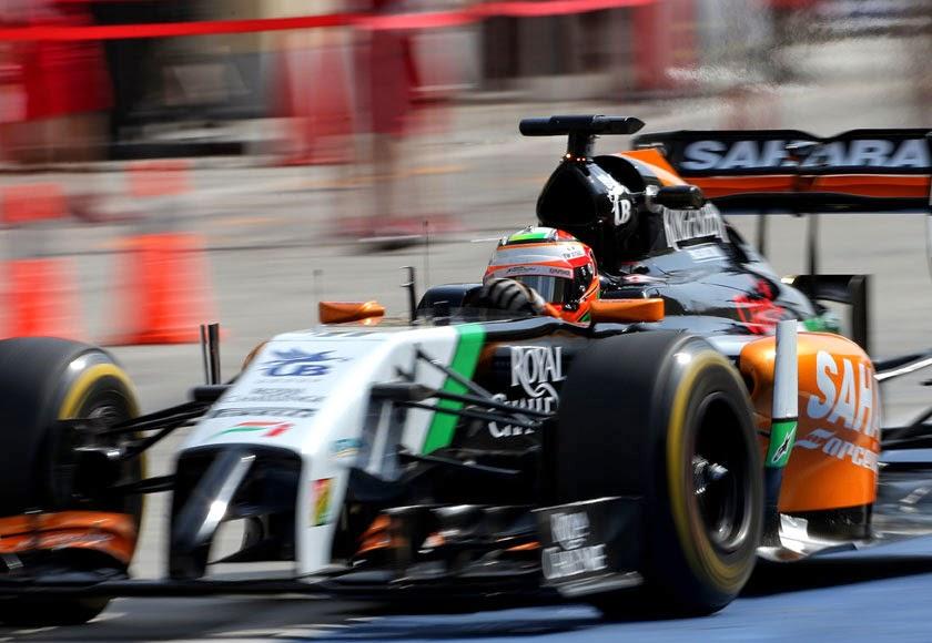 Los Force India se colaron en el podio con el Checo Pérez