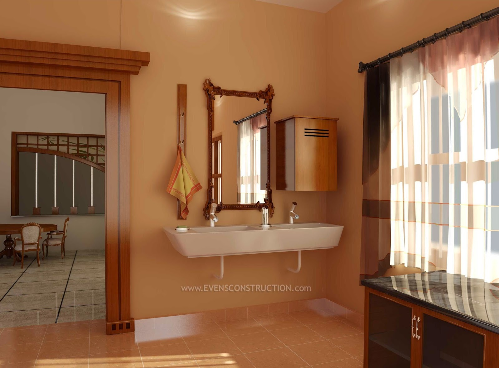 Evens Construction Pvt Ltd: Wash counter in dining room