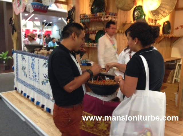 The Michoacan cuisine was present at the Tianguis Turistico de Mexico
