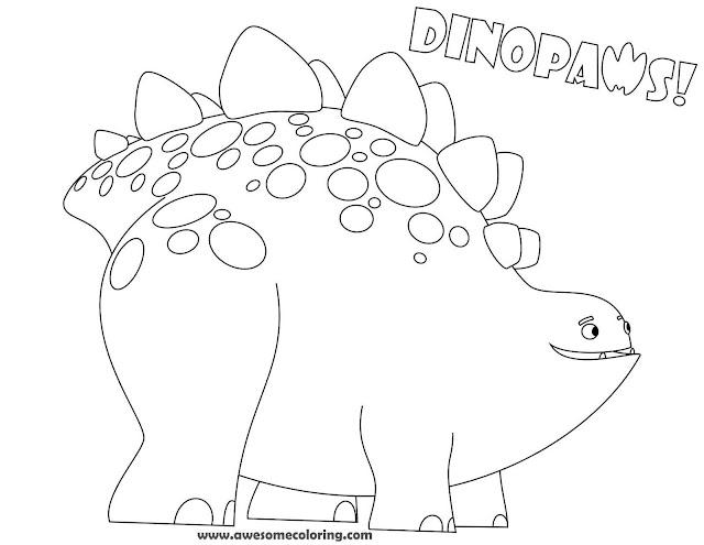 Dinopaws Bob Coloring Page