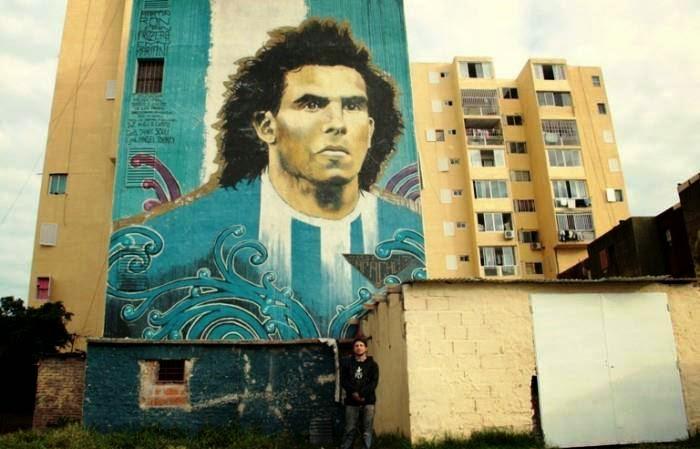 Graffiti Tévez Fuerte Apache