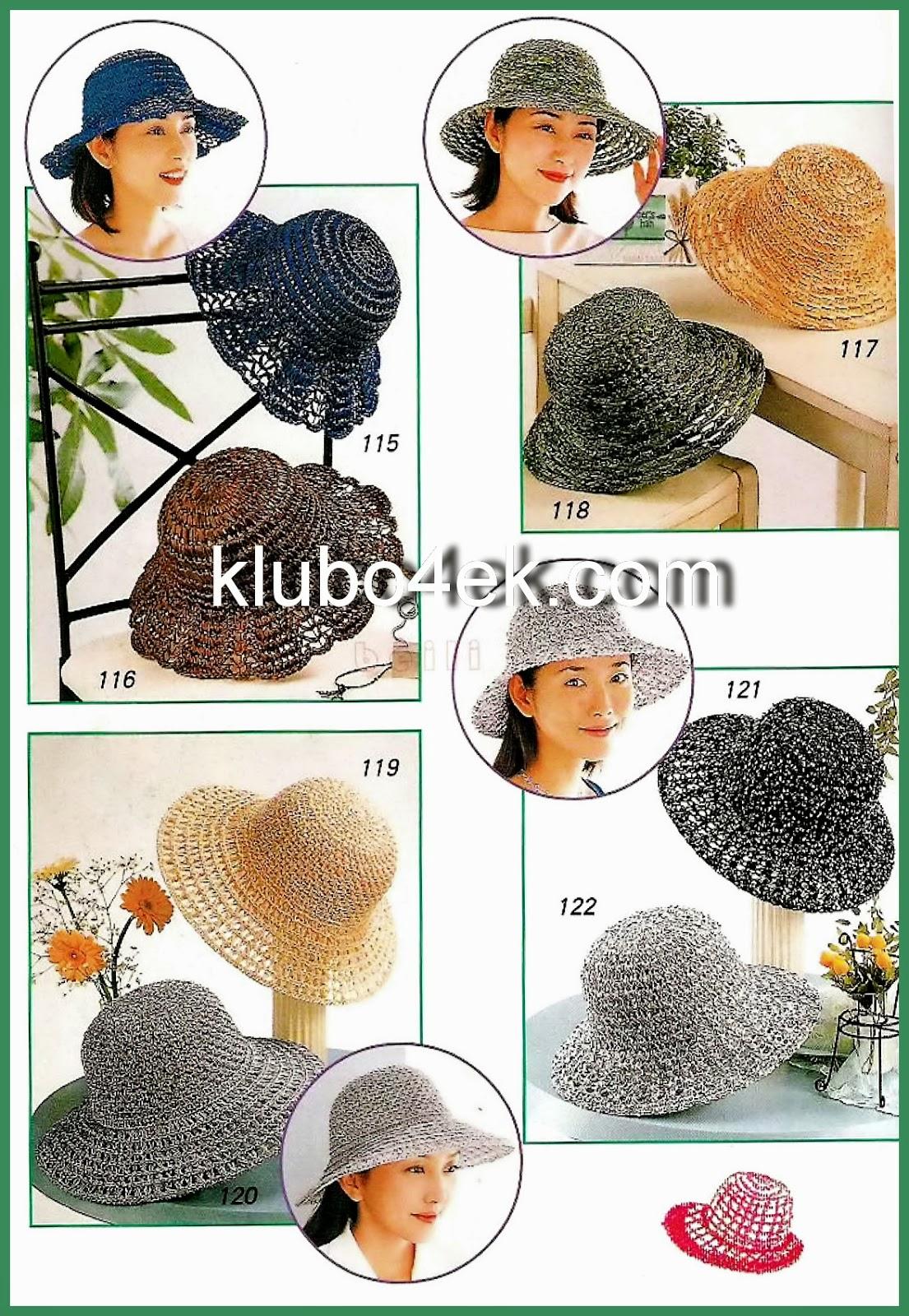 Elegantes sombreros de dama al crochet con patrones