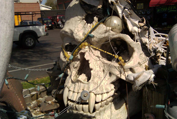 1969 Mustang Skull Art Car - Skull Closeup