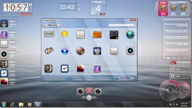 برنامج Launch StandAlone لإضافة أدوات ذكية شفافة إلى سطح المكتب