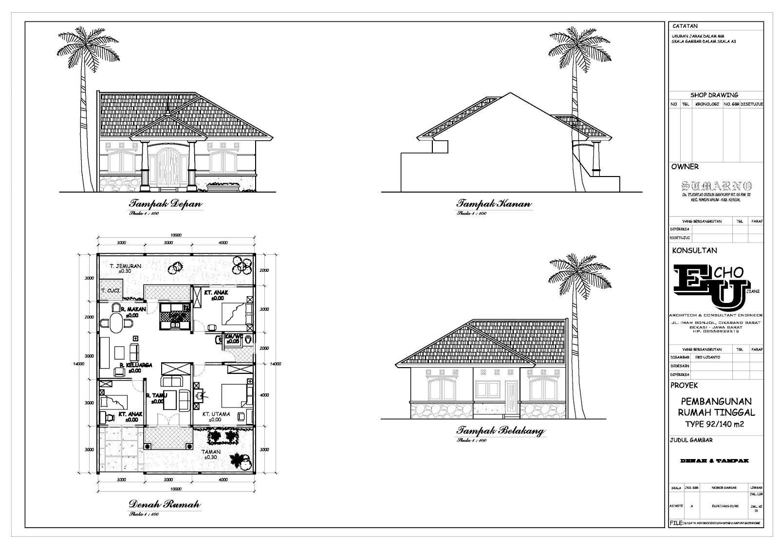 Rumah Tinggal Bapak Sumarno ( Kendal-Jateng / 2005 )