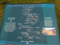Plafó informatiu sobre el Parc de la Sèquia en el lloc de l'avituallament