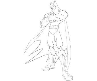 #7 Batman Coloring Page