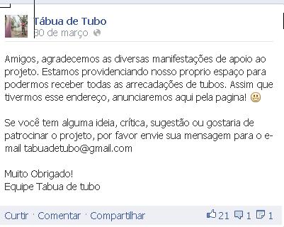 Tábua de Tubo