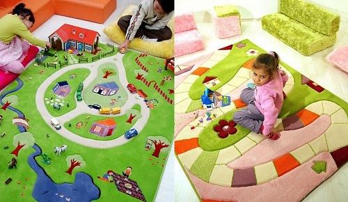 Quarto infantil tapetes decoram e protegem os pequenos portal constru o blog - Alfombras infantiles grandes ...
