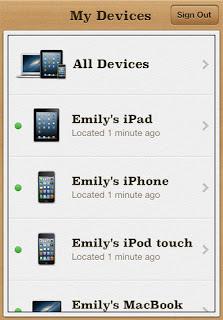 Perangkat iOS yang terdeteksi