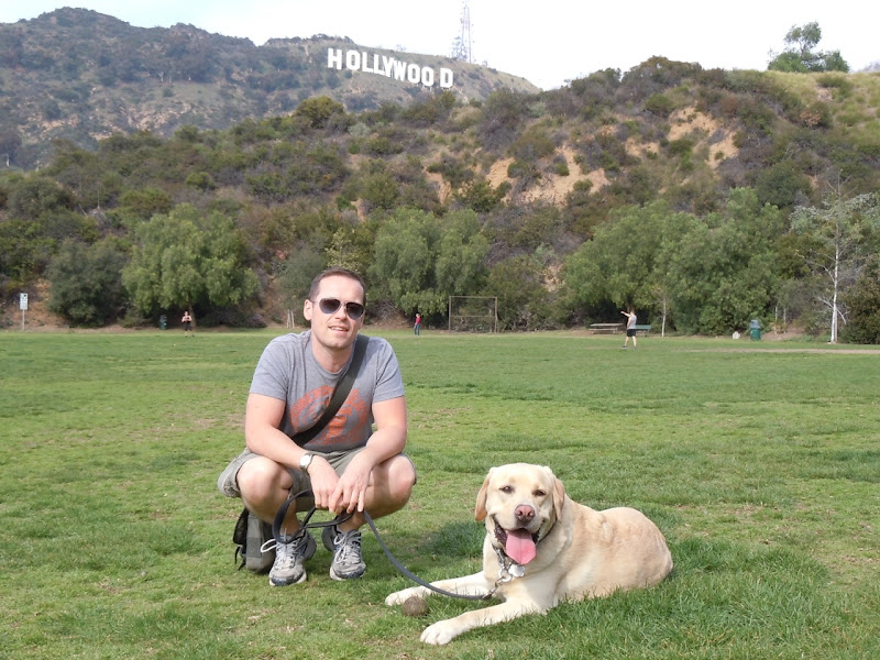 Jason and Labrador Cooper in Hollywood