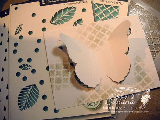 stencil background partial die cutting black butterfly